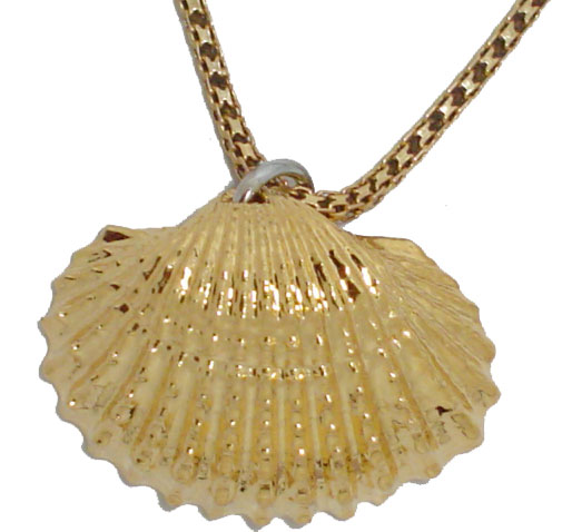 Sea shell gold pendants gold pendant necklaces real sea shell pendant dipped in 24kt gold aloadofball Image collections